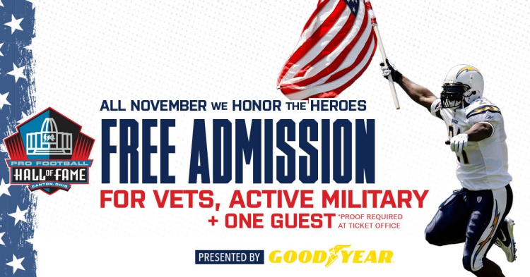 Free Admission For Veterans and Active Military
