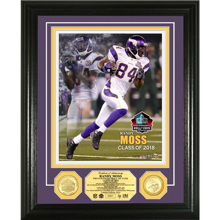 Randy Moss Class of 2018 Bronze Coin Photo Mint (PHOTO11964K)