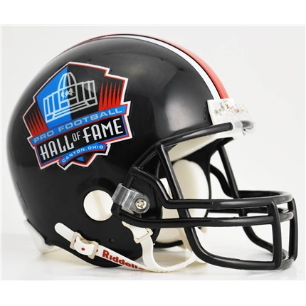 Pro Football Hall Of Fame Mini Replica Helmet - Black